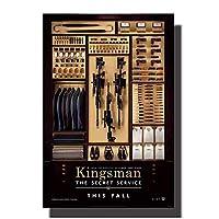 Suuyar キングスマンシークレットサービスの映画のポスターとプリントウォールアートプリントキャンバスにリビングルームの家の寝室の装飾-24X39インチX1フレームレス