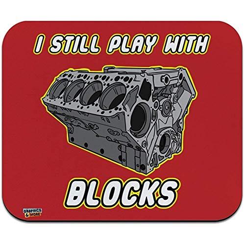 Ik speel nog steeds met Blokken Automotive Mechanic Auto Engine Low Profile Thin Mouse Pad Mousepad