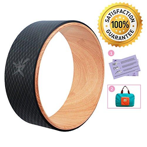 IVIM Premium Yoga Wheel Ruota Yoga con Guida Yoga - Aiuti Yoga per Stretching, Miglioramento della Flessibilità e Backbends - Eccellente Supporto per Alleviare Lo Stress, Fitness, Yoga, Pilates