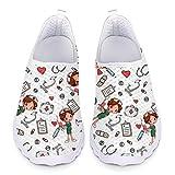 UOIMAG Bonitos Zapatos de Enfermera para Mujer, Regalo, Zapatos de Enfermera, Zapatos de Malla Transpirables, Zapatillas Deportivas Ligeras 39EU