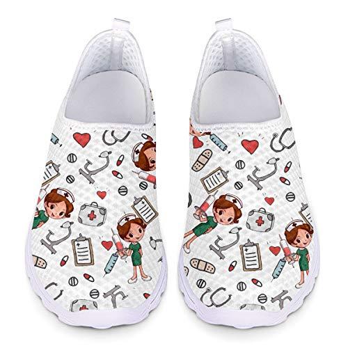 UOIMAG Bonitos Zapatos de Enfermera para Mujer, Regalo,...