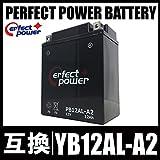 PERFECT POWER PB12AL-A2 密閉型 MF バイクバッテリー充電済 【互換 YB12AL-A2 YB12AL-A FB12AL-A】 ビラーゴ400 FZR400 ホンダ除雪機 HS660 HS760 HS870 HS970 SB690 SB655