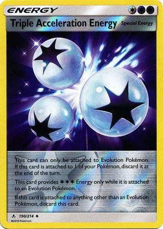 Triple Acceleration Energy - 190/214 - Uncommon - Reverse Holo - Unbroken Bonds