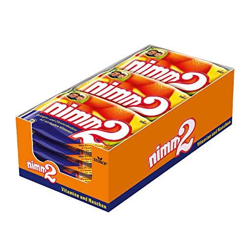 nimm2 – (10 x 240g Beutel) – Kleine Süßigkeiten-Bonbons mit flüssigem Kern aus Fruchtsaft und reichhaltigen Vitaminen für Kinder und Erwachsene