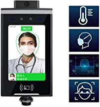 Contac,Face Recognition and Temperature Measurement All-in-One Machine - -Free Infrared Thermometer, Access Control and At...