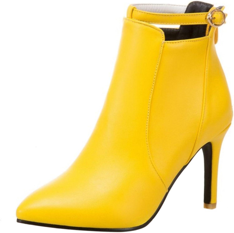 RizaBina Women Fashion Thin High Heel Ankle Boots Zipper Short Boots