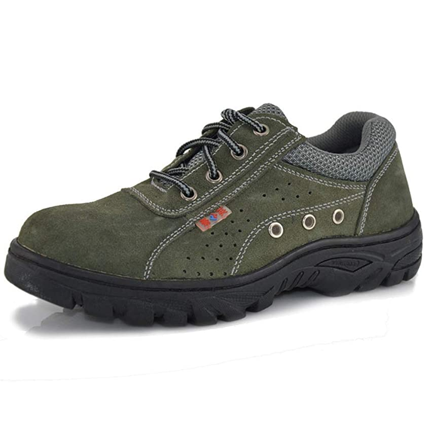 サイレンおもてなし頻繁に防護靴 安全シューズ ワークシューズ メンズ つま先靴底防護鋼片付き 人気 アウトドア 工業用 建設作業 耐久性抜群 歩きやすい クッション性 ノンスリップ 滑り止め加工 溶接作業 パンチング加工 紐タイプ