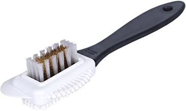 Kaps Quality Nubuck And Suede Multifunctional 4-Sided Cleaning Shoe Brush, Brass And Nylon Bristle, Cleans And Gives Perfect Nap