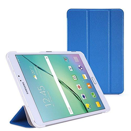 WOFALA - Carcasa para Samsung Galaxy Tab S2 8.0, ultra delgada, ligera, con función de encendido y apagado automático, para tablet Samsung Galaxy Tab S2 de 8 pulgadas, color azul