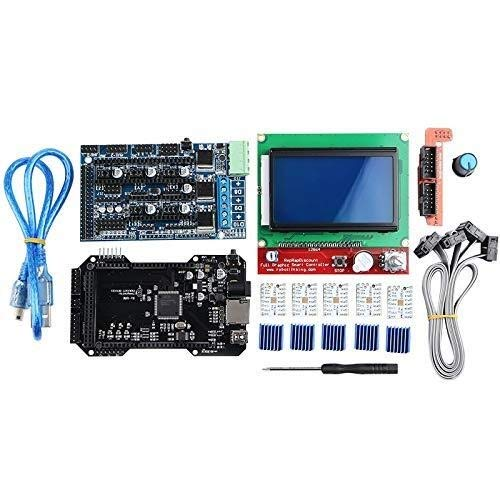 YHtech Clone Re-Arm 32 Bit Mother Board Ramps 1.5 And 12864 Lcd Display With Tmc2208 Driver For 3D Printer Parts Printer Accessories