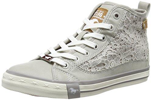 MUSTANG Shoes High Top Sneaker in Übergrößen Grau 1146-507-22 große Damenschuhe, Größe:45