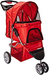 Number 3 in our list of the top ten dog strollers is this 3 wheel stroller by VIVO