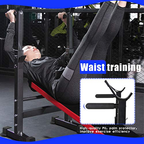 Adjustable Weight Bench Workout Bench for Full Body Exercise Olympic Weight Bench Folding Barbell Rack Stand