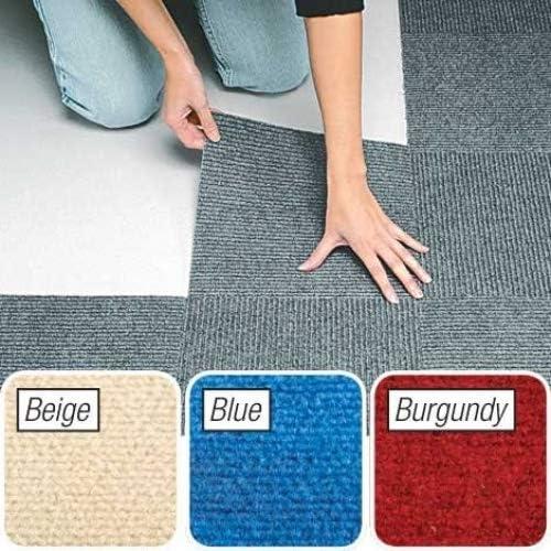 wholesale Berber online sale Carpet Tiles Set online of 10 Blue By Jumbl online