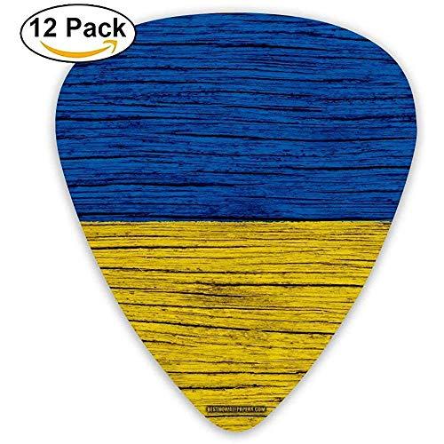 Oekraïne hout vlag Oekraïne gitaar pick 12 stuks