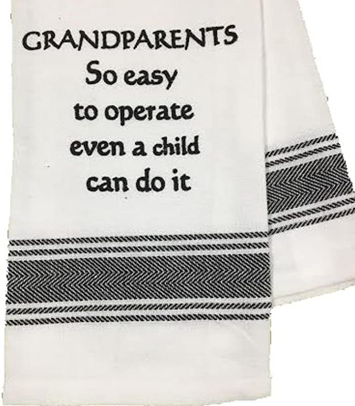 Wild Hare Designs Dishtowel Grandparents So Easy To Operate Even A Child Can Do It