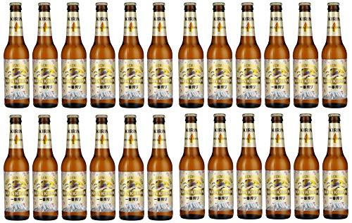 KIRIN ICHIBAN japanisches Premium Bier (helles Malzbier, nach dem First Press Verfahren gebraut, Flaschenbier mit 5 % Alkoholgehalt) EINWEG (24 x 0,33 l)