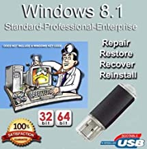 9th and Vine USB Compatible With Windows 8.1 Standard, Professional & Enterprise 32/64 Bit. Install To Factory Fresh, Recover, Repair and Restore. Fix PC