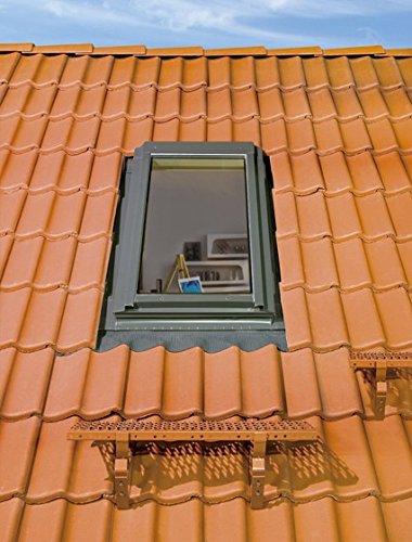 FAKRO Thermoisolations Ausstiegsfenster 78x118 FWR U3 + Eindeckrahmen (Anschlag rechts von aussen)