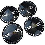4 Pcs Wheel Center Caps for Mitsubishi Ralliart, 3D Badge Sticker Badge Emblem Covers Hubcap Emblem Logo Sticker