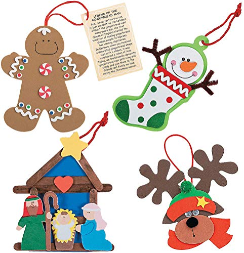 Christmas Ornaments Crafts Kit (Set of 4) by 4E's Novelty