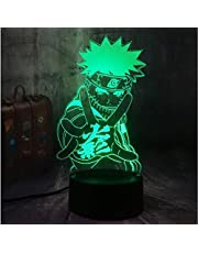 Nattlampa Naruto Anime Naruto 3D LED USB-bord sovlampa inredning barn pojke barn leksak semester julklapp