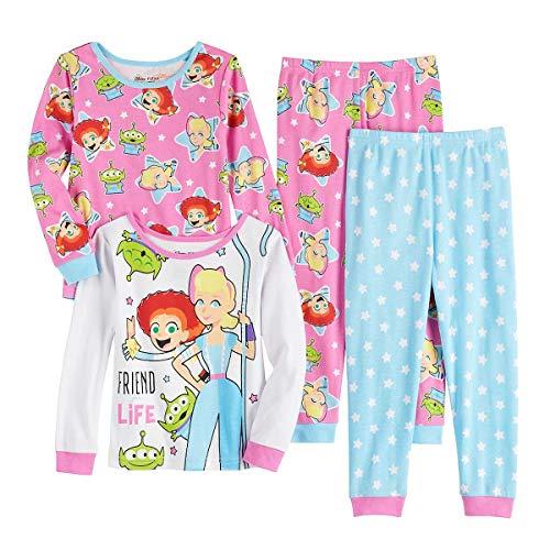 Toy Story 4 Little Bo Peep, Jessie and LGMs 4-Piece Pajama Set (4T)