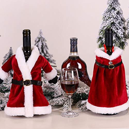 Hzb821zhup Kerstmis rode wijn set Kerstmis flesje Bag jurk wijnfles set Kerstmis wijnfles decoratie wijntas party ornament