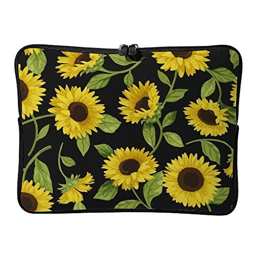 Sunflower Laptop Case Bag Slim High Capacity Zipper Basics 10-17 Inch for School Students White 15 Zoll