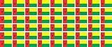Mini Aufkleber Set - Pack glatt - 20x12mm - Sticker - Fahne - Guinea Bissau - Flagge - Banner - Standarte fürs Auto, Büro, zu Hause & die Schule - 54 Stück