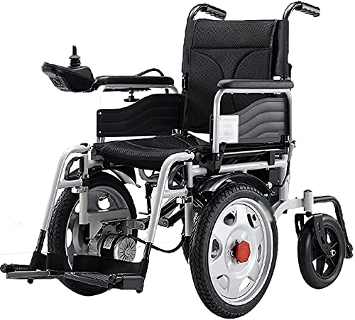 MENG Electric Wheelchair, Comfortable, Breathable, Waterproof, Universal Intelligent Joystick, Anti-Tilting Wheelchair, Scooter for The Elderly,Black