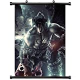 Gaming Wall Posters,Tekken Game Devil Jin Fighting Fighter Video Game Home Decor Wall Scroll Poster Fabric Painting 23.6 X 35.4 Inch (60cm X 90 cm)