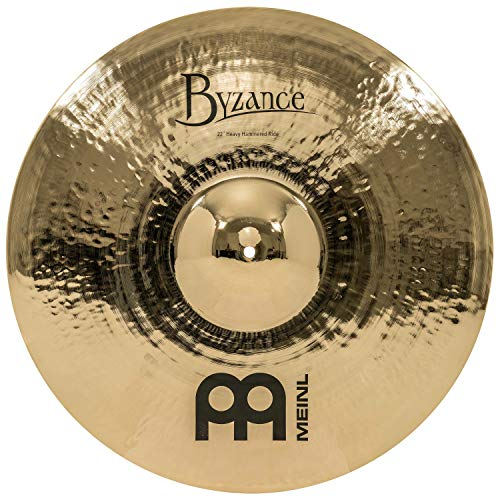 "Meinl Cymbals Byzance 22"" Brilliant Heavy Ride — MADE IN TURKEY — Hand Hammered B20 Bronze, 2-YEAR WARRANTY, B22HHR-B, inch"