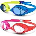 2-Pack OutdoorMaster Kids Quick Adjustable Strap Swim Goggles