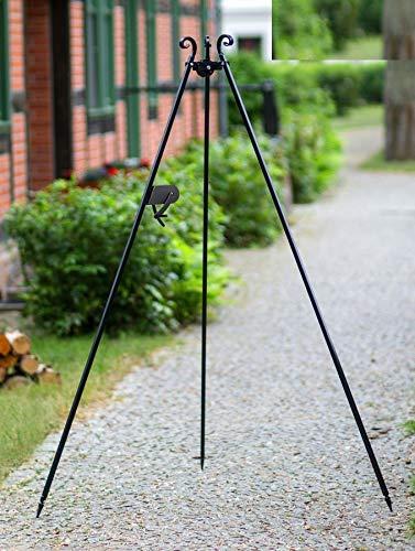 Korono ® Barbecue pivotant à manivelle avec manivelle revêtu par pulvérisation 180 cm sans accessoires
