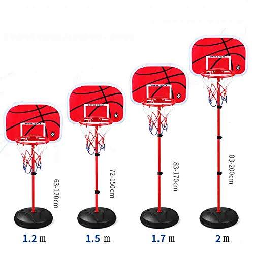 LJHLJH 170 Centimetri I Bambini Pallacanestro Pallacanestro Rack Stand Regolabile in Altezza del Piano di Sostegno di Pallacanestro Sistema 2 Free Bas