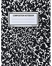 Unruled Composition Notebook: 100 Unruled Pages [50 Sheets], 7.5 X 9.25, Black Marble, Composition Style Cover, Perfect Bound Notebook.