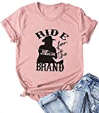 Yellowstone TV Show T Shirt Women Beth Button Short Sleeve Casual Vintage Tee Tops Pink L