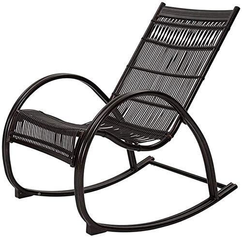 Lhak Sillón reclinable al Aire Libre La Gravedad Cero al Aire Libre Plegable Silla de jardín, Mecedora de jardín Plegable al Aire Libre balcón terraza, Porche