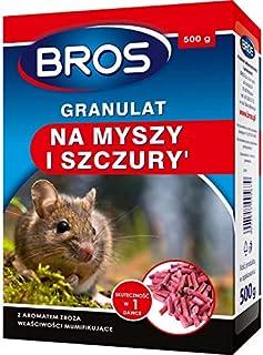 BROS Trutka na myszy i szczury 500g Trutka jest atrakcyjna dla gryzoni ze względu na odpowiednią wielkość i twardość granu...