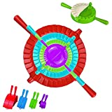 KU Syang Moldes de Dumpling Fabricante de Dumpling Prensa de 4 Paquetes para Hacer Pasteles/Dumpling/Wontons/Etiquetas Engomadas para Ollas/Empanadas