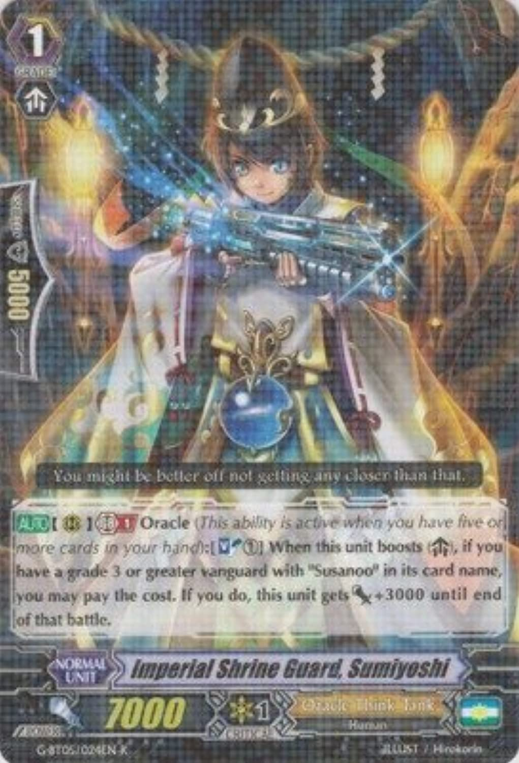 Cardfight   Vanguard TCG  Imperial Shrine Guard, Sumiyoshi (GBT05 024EN)  G Booster Set 5  Moonlit Dragonfang by Cardfight   Vanguard TCG