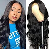 Lace Front Wigs Human Hair Wigs for Black Women, Brazilian Virgin Hair Body Wave Lace Closure Wigs Pre Plucked with Baby Hair Natural Color (Body Wave Lace Wigs 20 Inch)