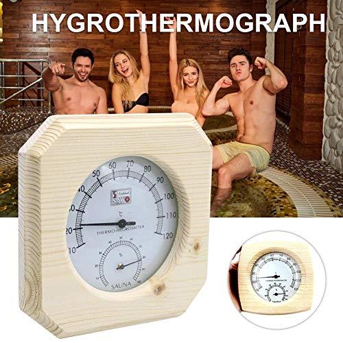 Fuitna Holz Sauna Thermometer White Pine Hygrometer Cedar Fall Genaue Feuchtigkeitsüberwachung Spur Sauna Zimmer Zubehör Um Eine Bessere Überwachung Der Luftfeuchte