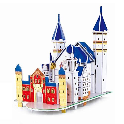 DBSUFV Rompecabezas estéreo 3D Mini-Mundo Modelo arquitectónico Rompecabezas Rompecabezas de Papel para niños Notre Dame en París