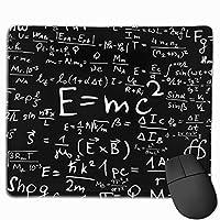 "Einstein Physics Formula Scienceオタクブラックホワイトファブリックブラック マウスパッド ゲーミング オフィス高級感 おしゃれ 防水 耐久性が良い 滑り止めゴム底 ゲーミングなど適用 マウスの精密度を上がる9.8""x 11.8"""