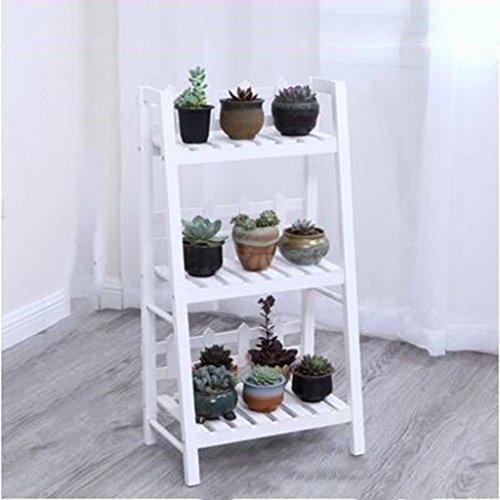 & Pot rack Support de fleur en bois massif Support de fleur multicouche Balcon Salon Support de plantes moderne Pots à fleurs décoratifs (Color : B, Size : 115 * 90 * 31)