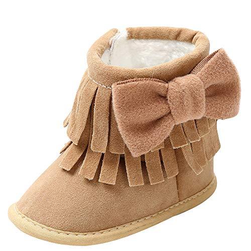 Botas Bebe Invierno,❤️ Amlaiworld Zapatos Cuna Suave Bebé Niños Niñas Primeros Pasos Botas de Nieve Suave con borlas Botines Sneakers Zapatillas Deportivas