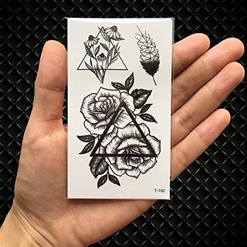 UGsLTyVqv Wasserdicht temporäre Tätowierung-Aufkleber Löwe-Königin-Kronen Tier Tatto Flash-Tatoo Tattoos Hand Leg für Mädchen Männer Frauen