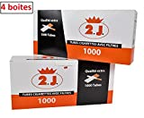 2J Tube Cigarette, Lot De 4 Boites De 1000 Tubes a Cigarette 2J